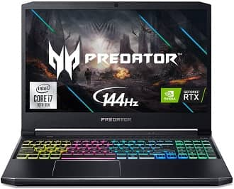 Acer Predator Helios 300 - mid-range laptop for revit and AutoCAD